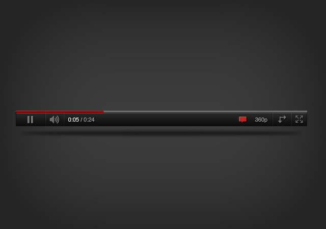 youtube player psd
