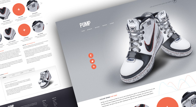 Pump – A free website psd template