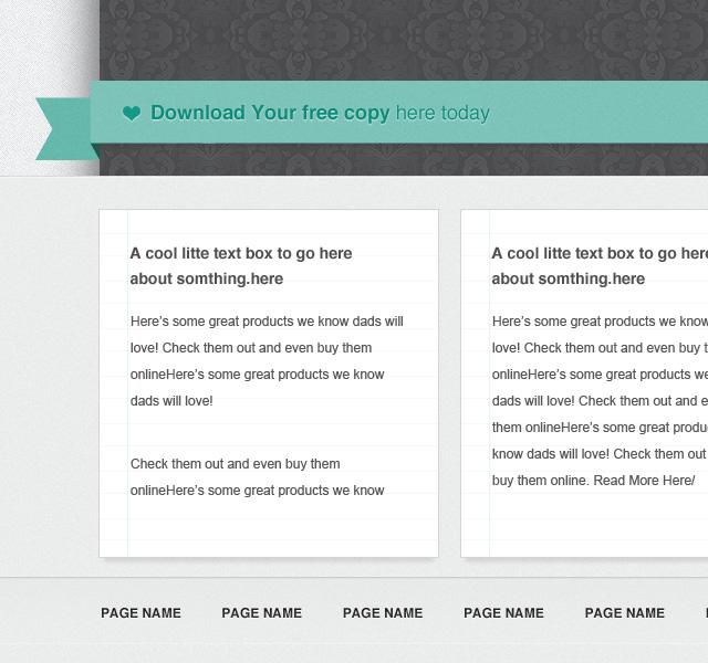 Ribbon - Free Website Template PSD