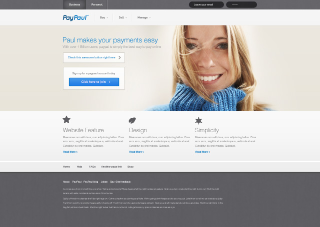 Corporate Web Design - PayPaul Design - BlazRobar.com