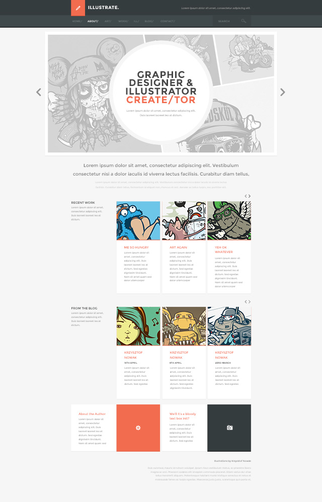 New WordPress Theme - illustrate!