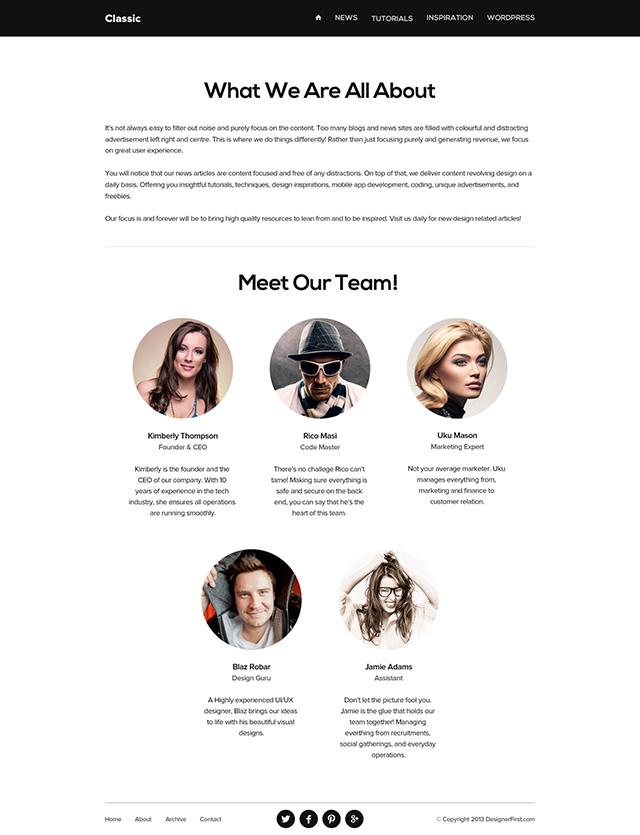 Clean & Minimal Blog Design