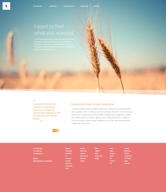 Website Psd Template In 3 Colors: Free Website PSD Template
