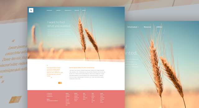 organic free website psd template