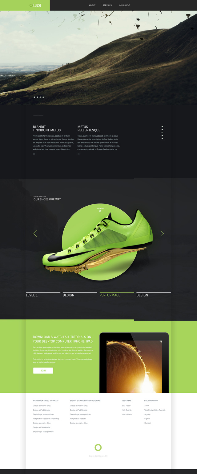 psd website template modern website design