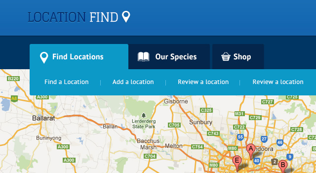 location find free website template