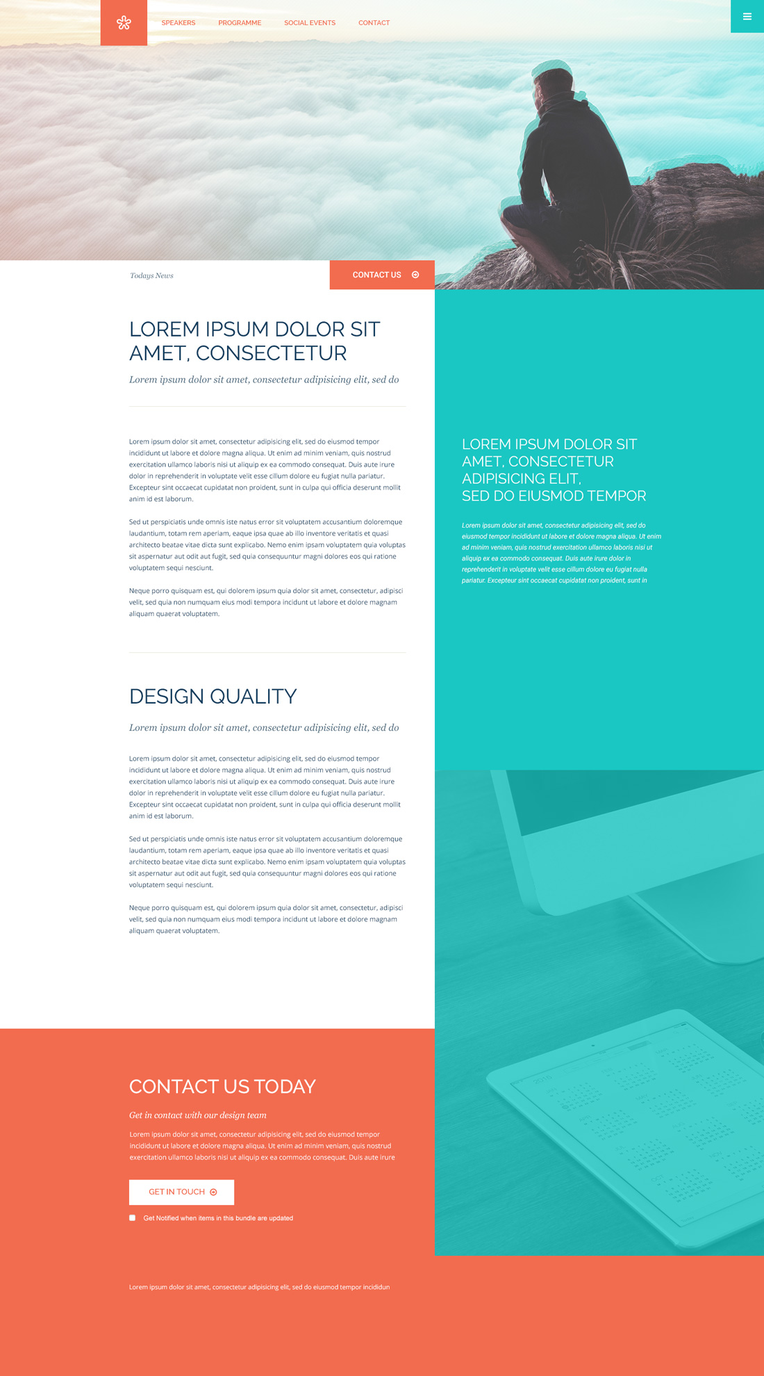 Free Mobile & Desktop PSD Website Template 'Column'
