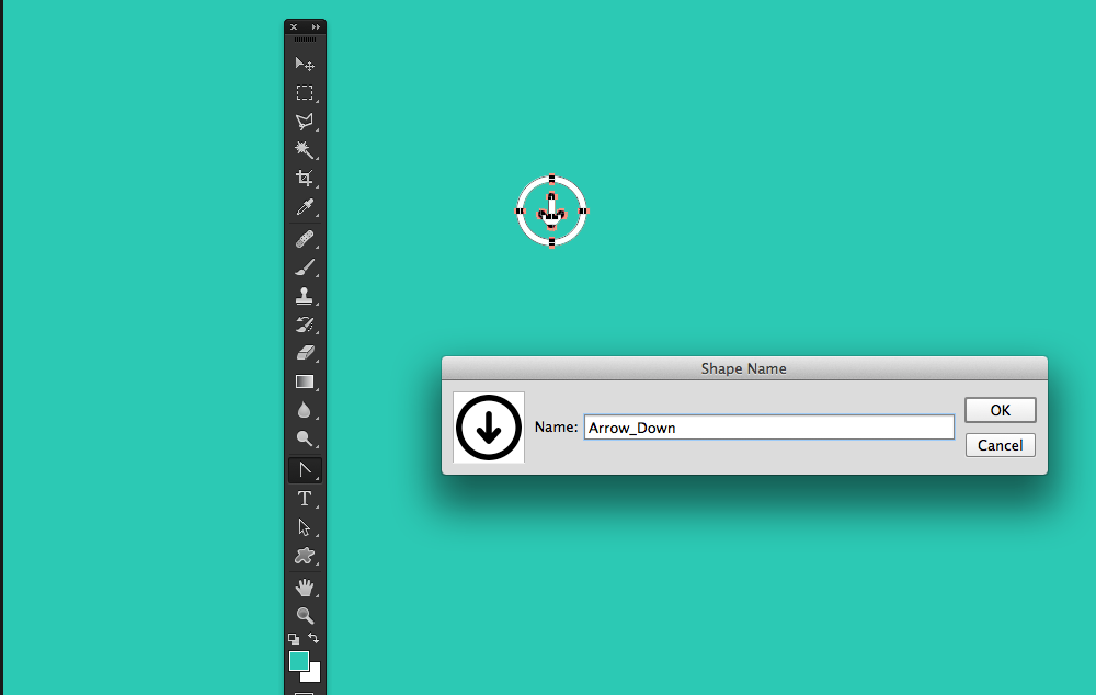 How to add custom icons to the custom shape tool