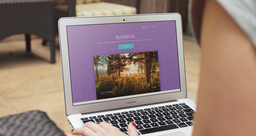 Builder – A free vibrant web app PSD template