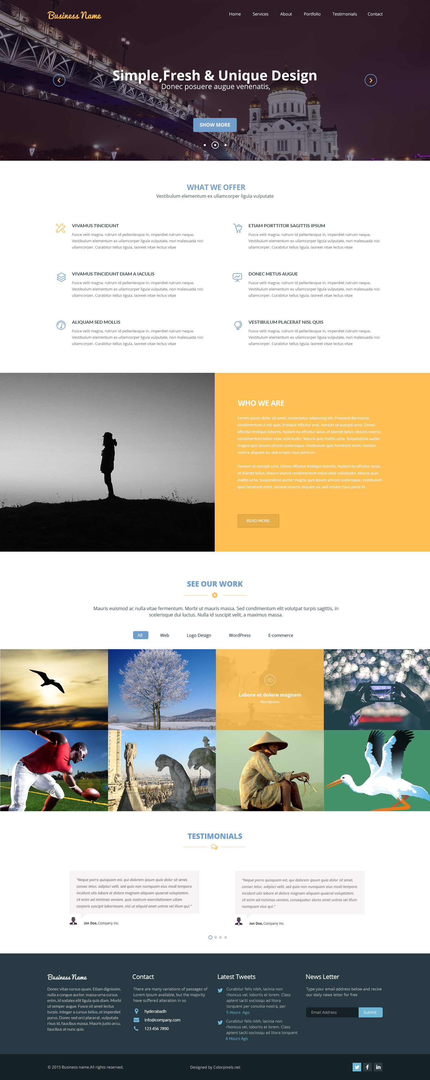 Multipurpose PSD Template