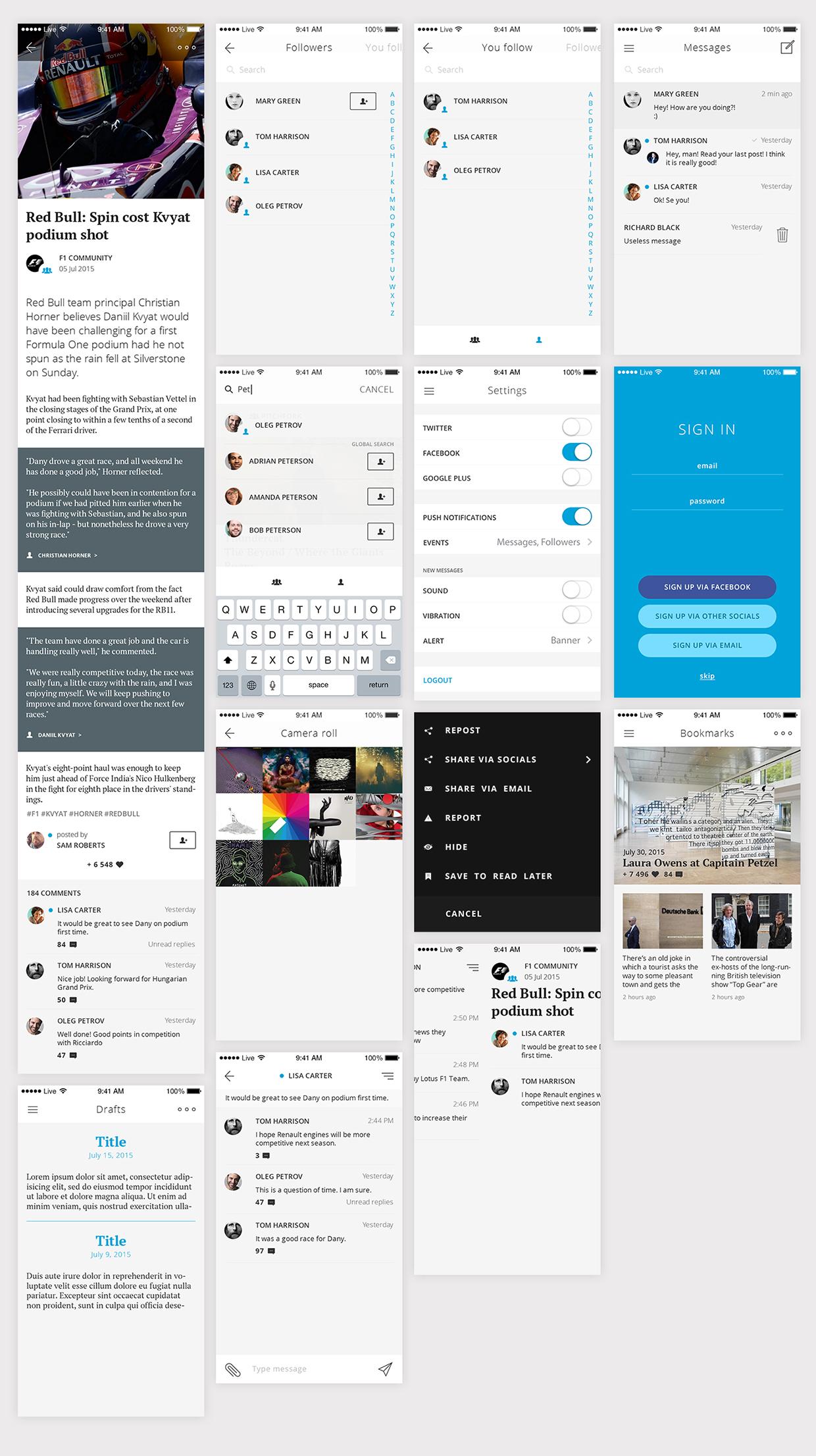 iOS Livejournal Redesign Concept