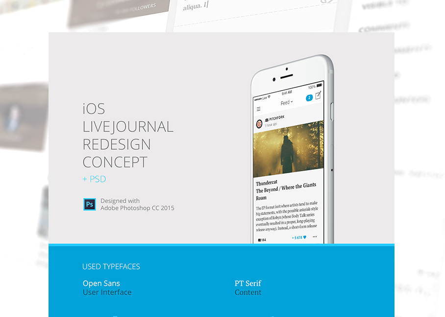 Ios livejournal redesign concept psd for Ios splash screen template psd