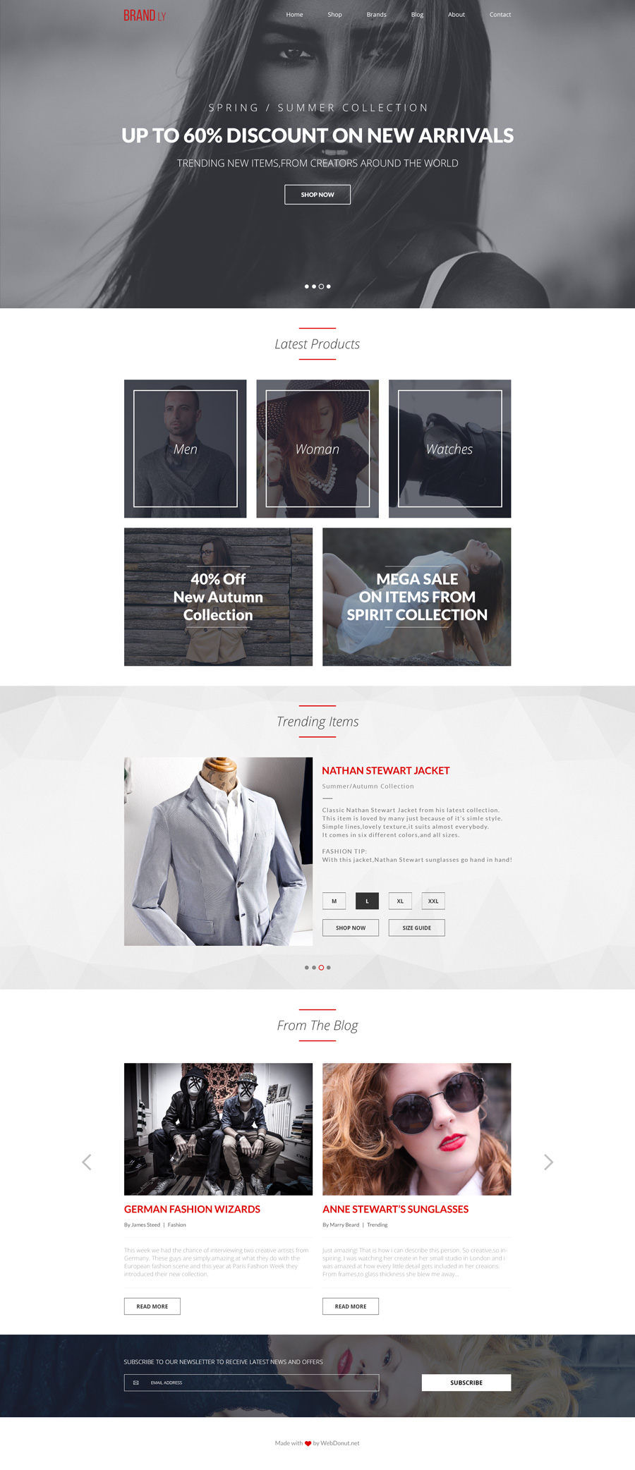 Brandly free PSD website template - BlazRobar.com