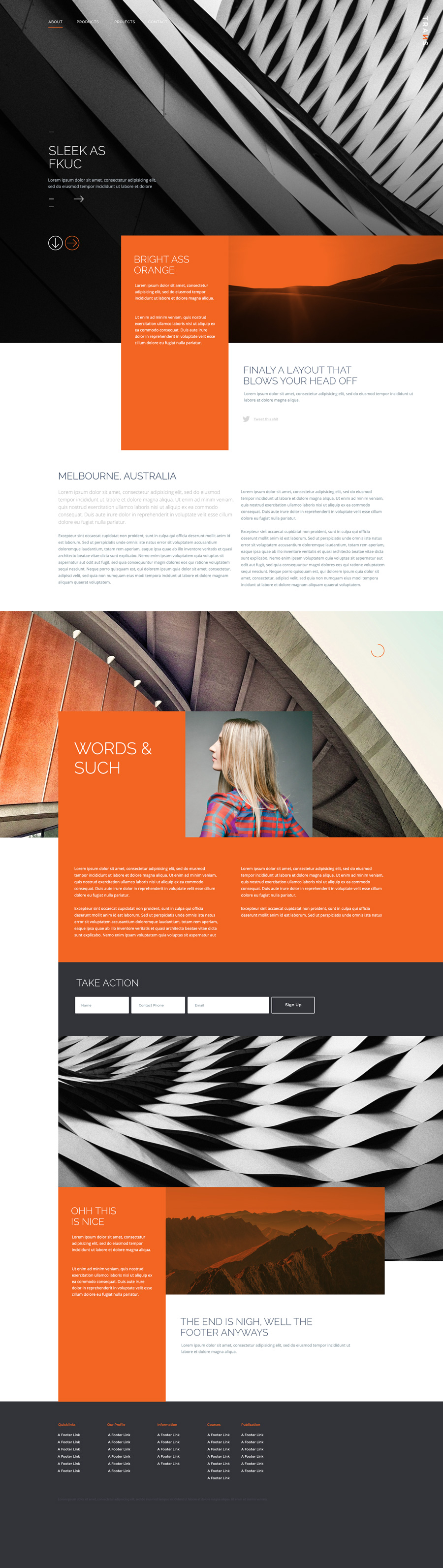 Trans – Free PSD website template with modern design