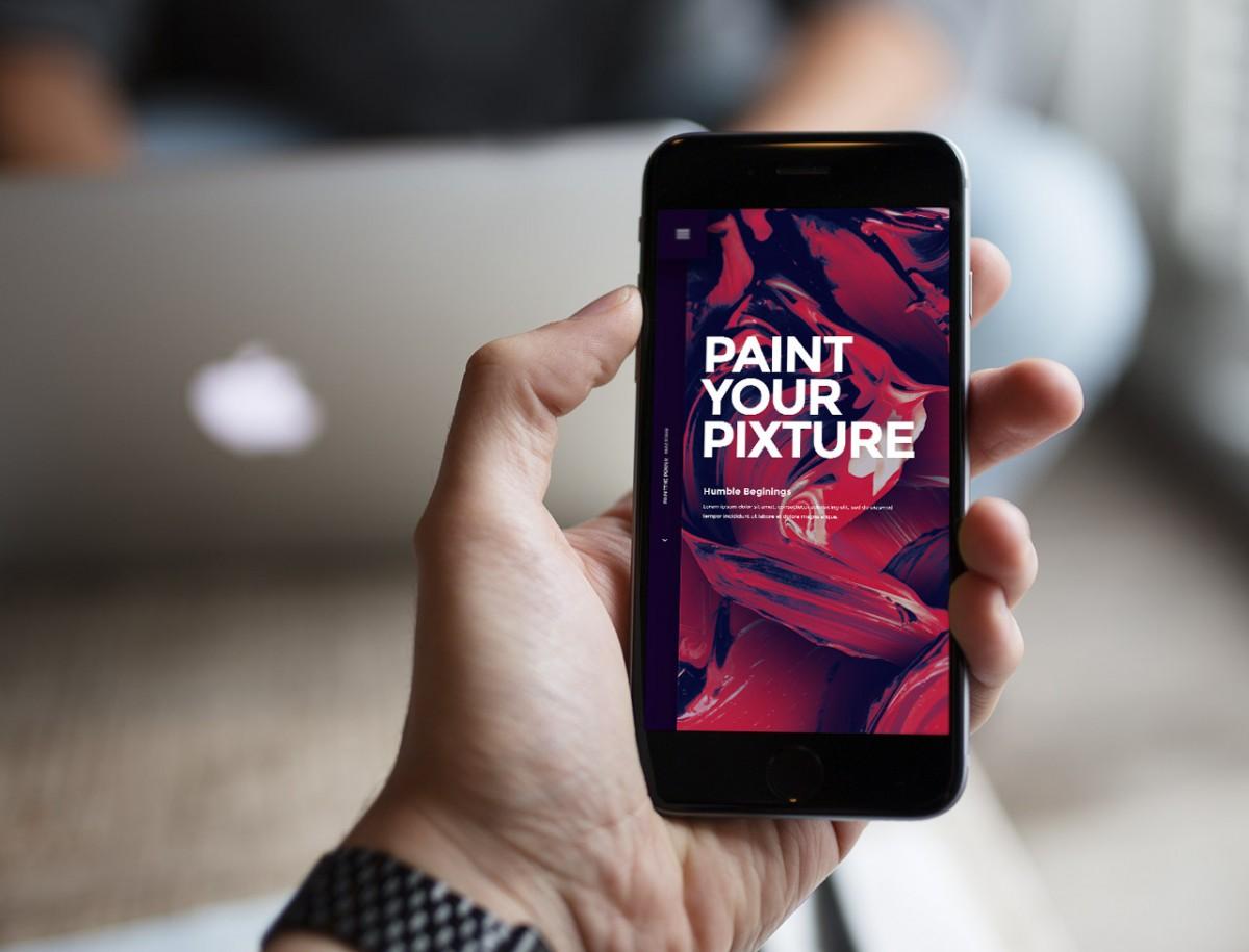 Pixture – Free photoshop PSD website template