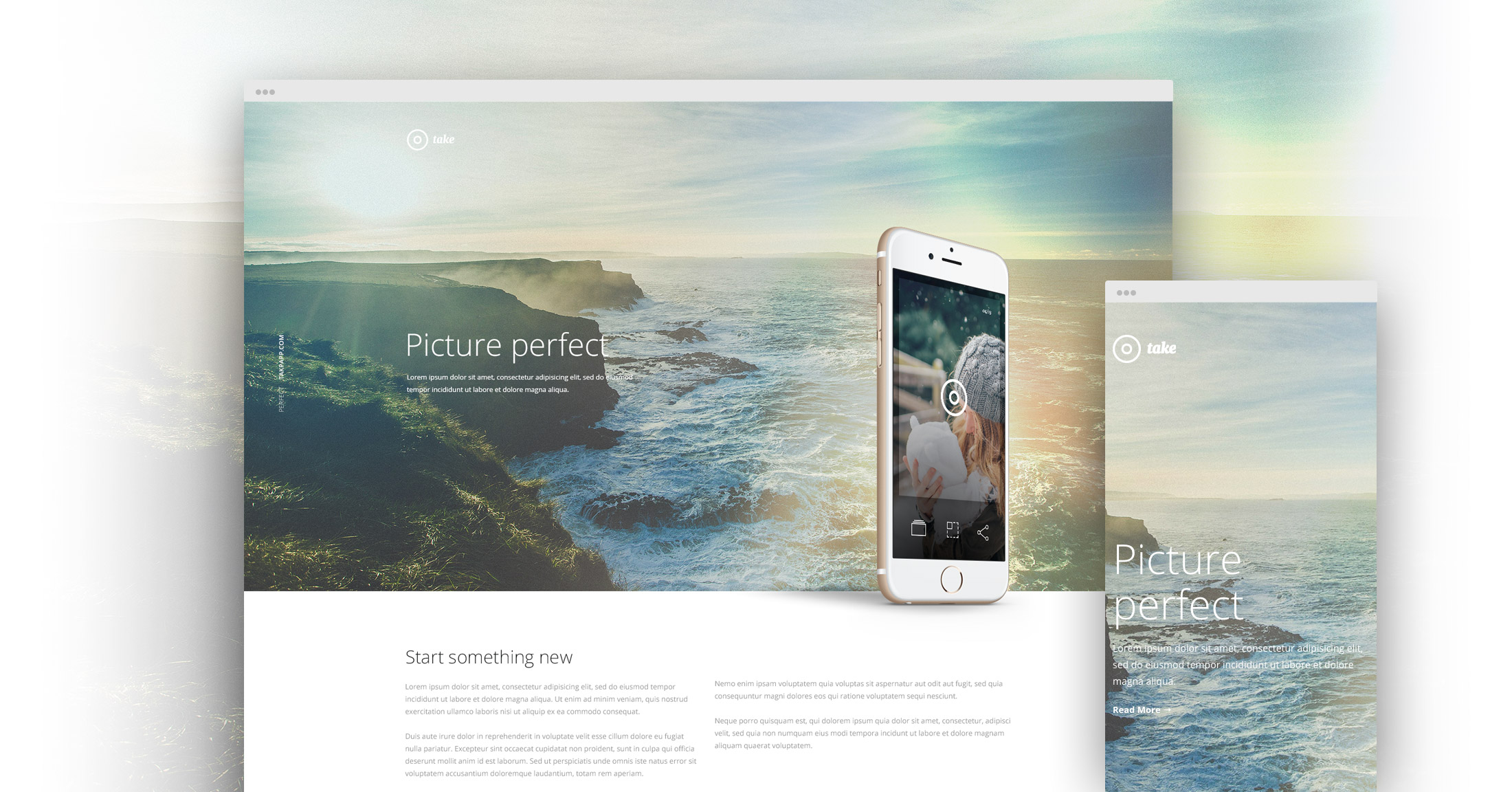 'Take' – a free HTML one pager template