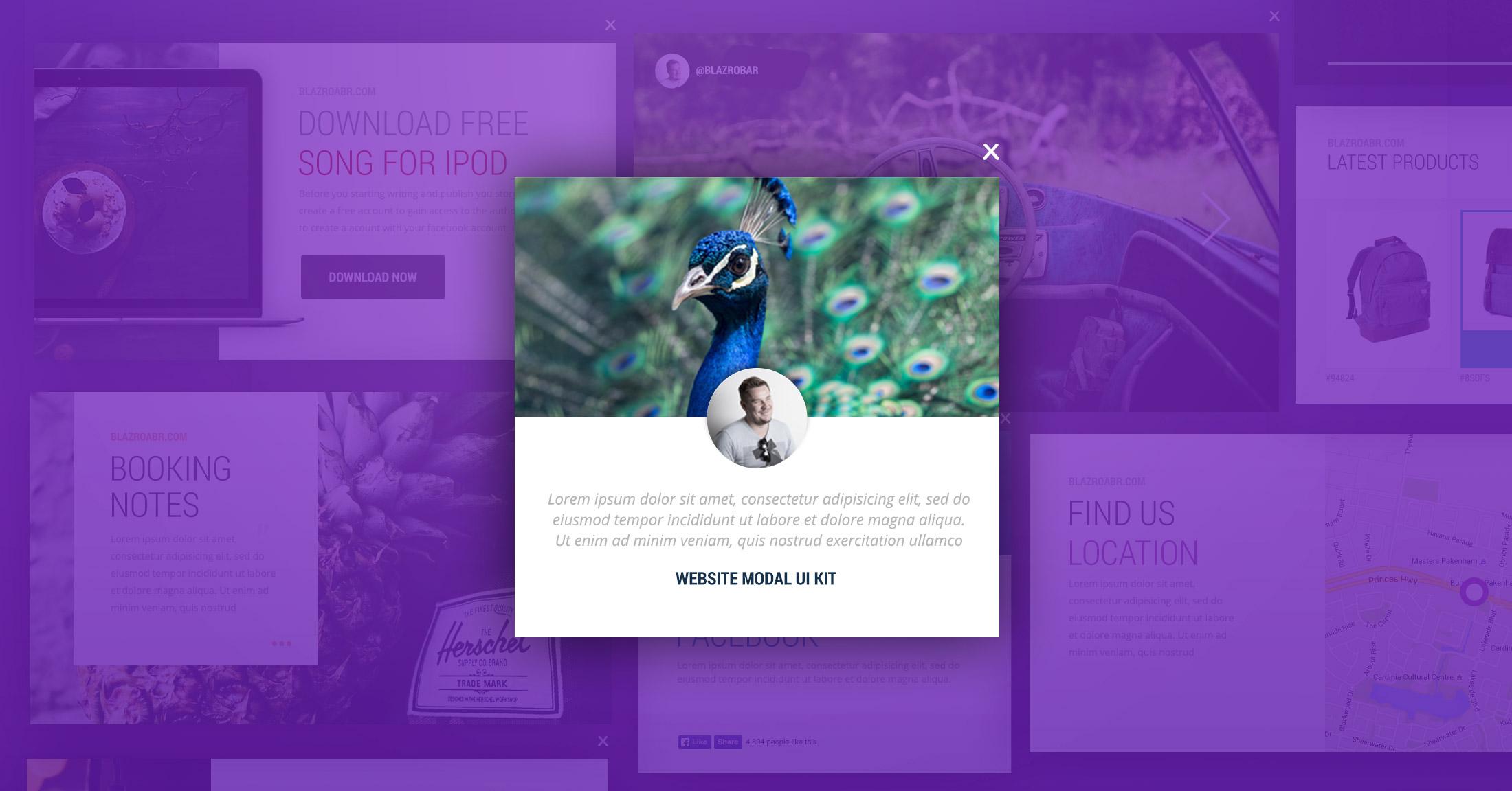 Website Modal Windows Ui Kit Blazrobar Com