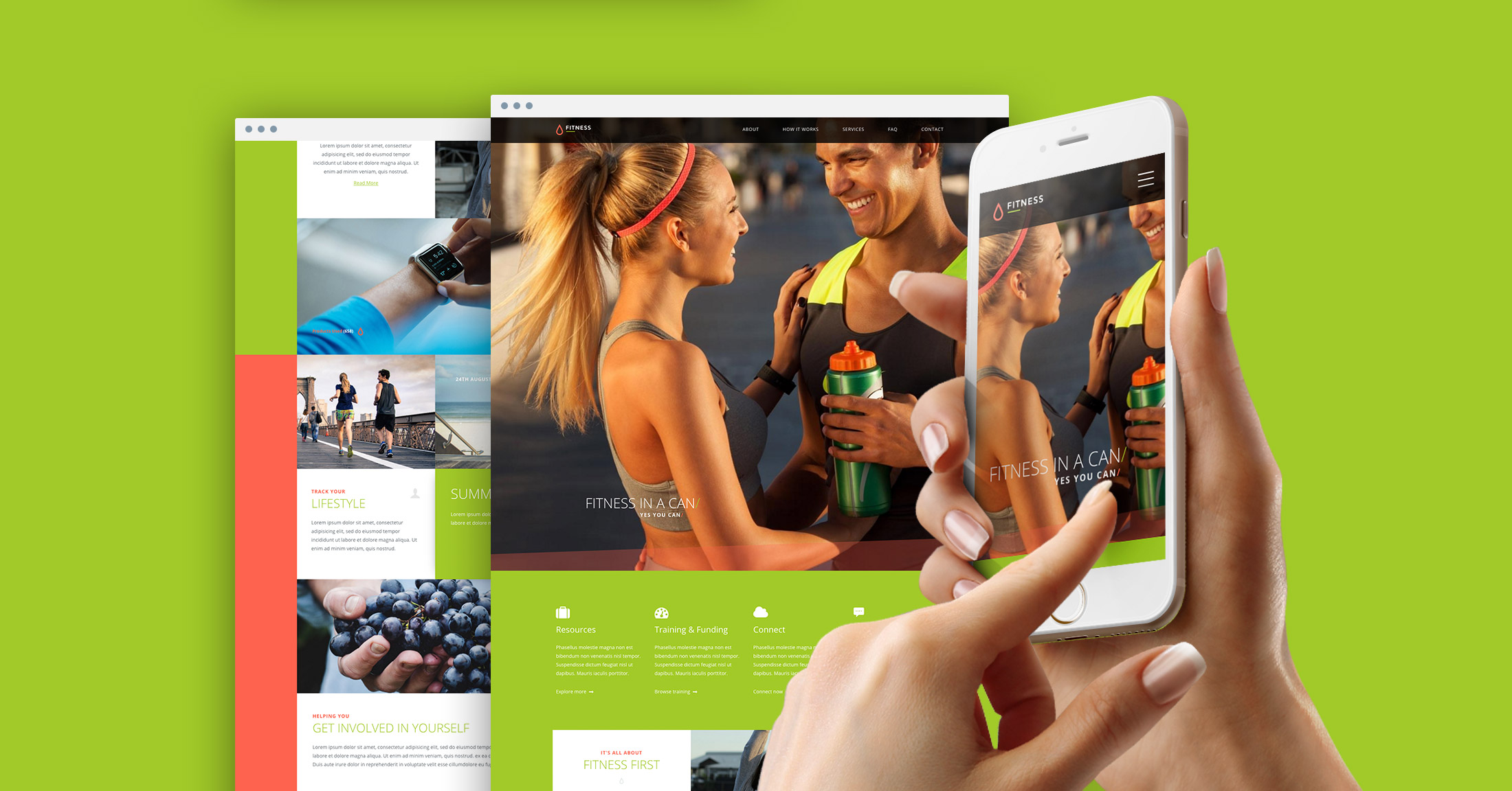 Free Fitness HTML one pager template