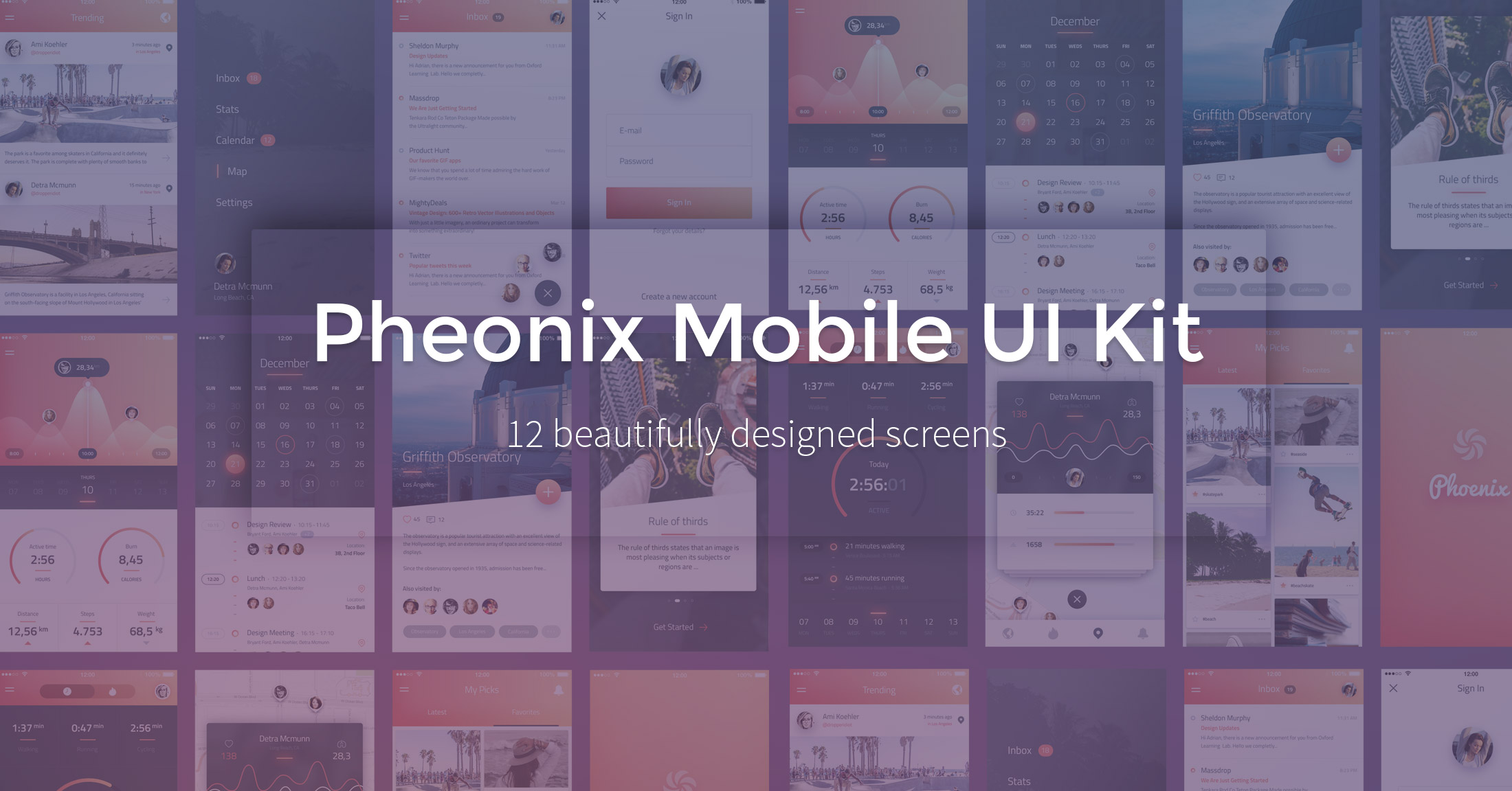Pheonix Mobile UI PSD Kit