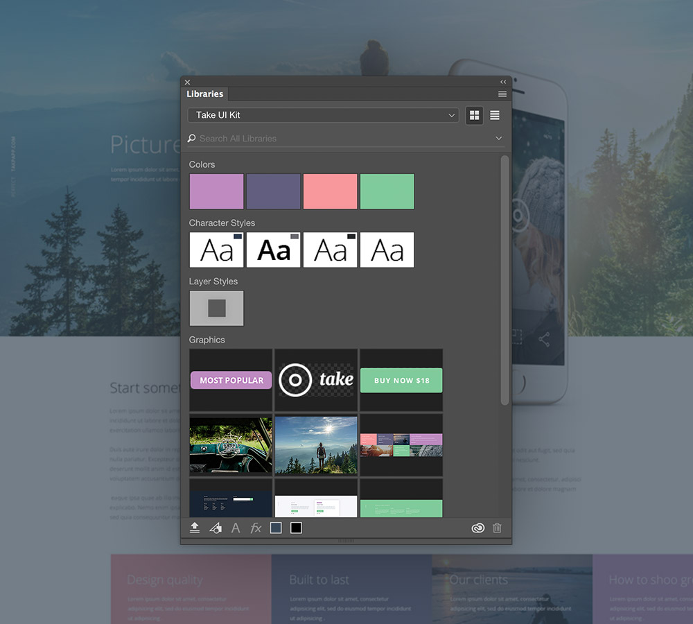Optimise your web design process with Photoshop Libraries