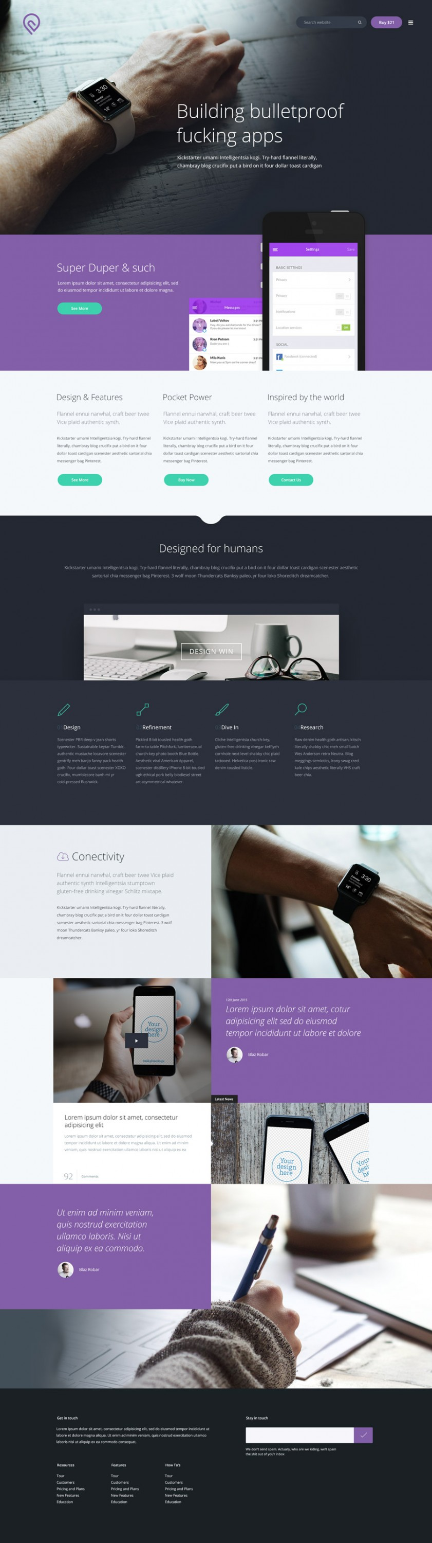 Tork Free PSD website template