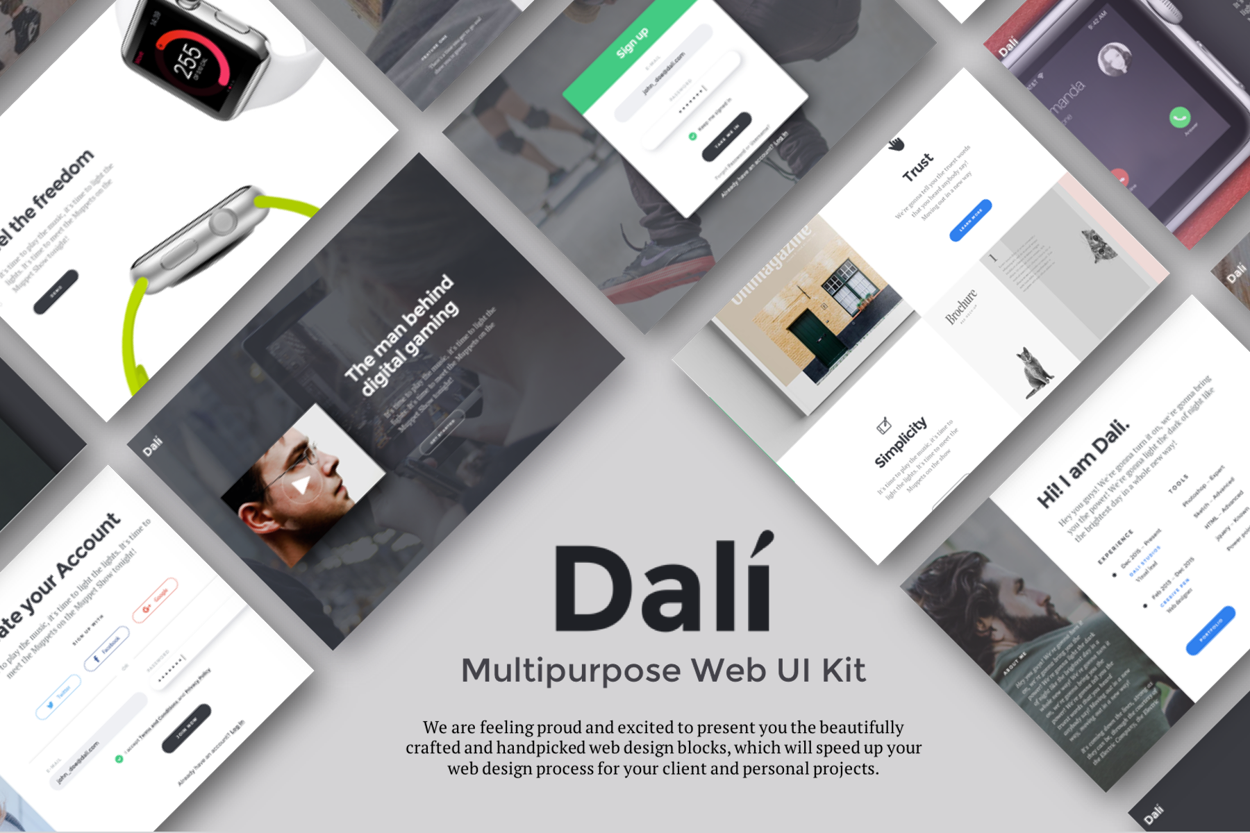 Dali-Multipurpose web ui kit
