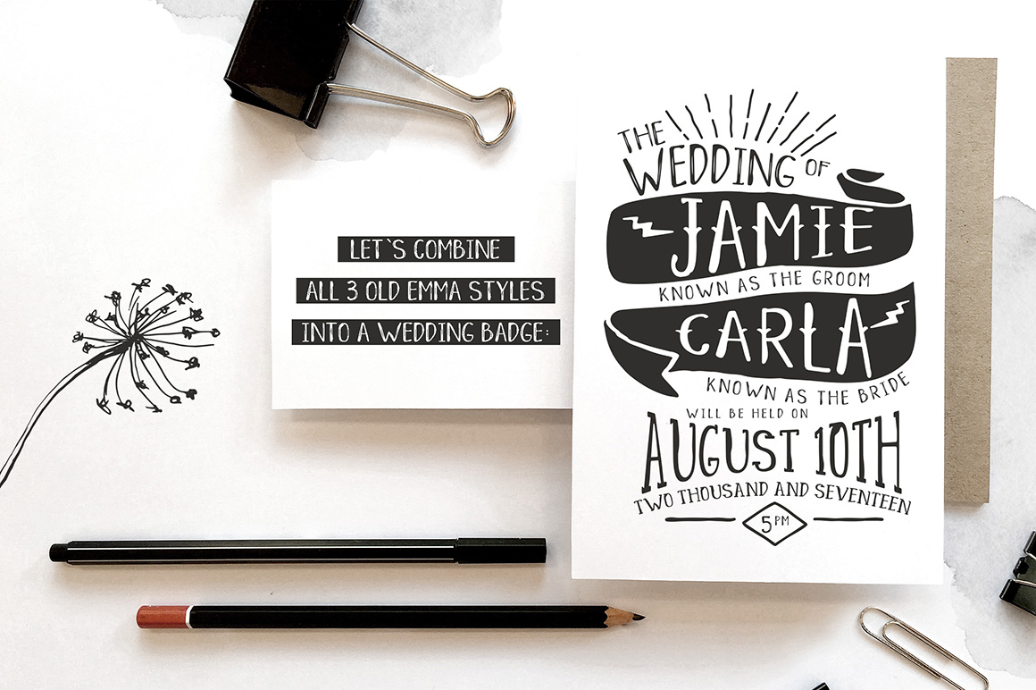 Massive July Font Bundle from Hungry JPEG