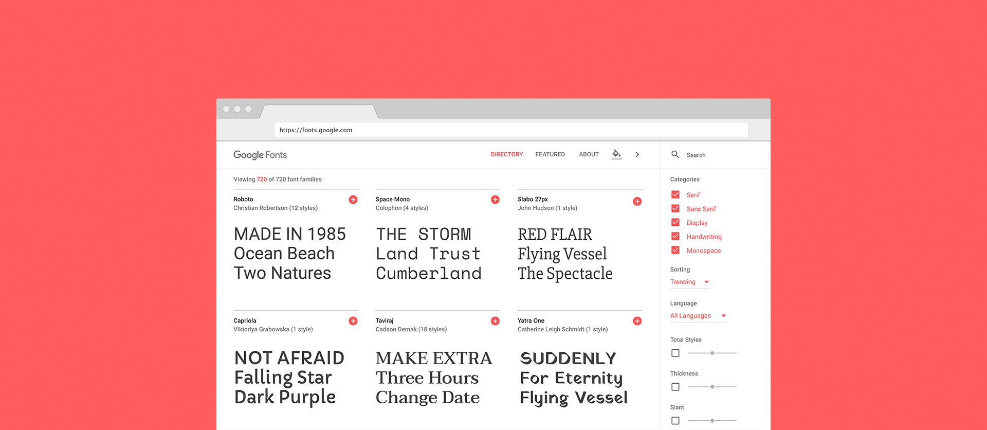 The New Google Fonts FTW