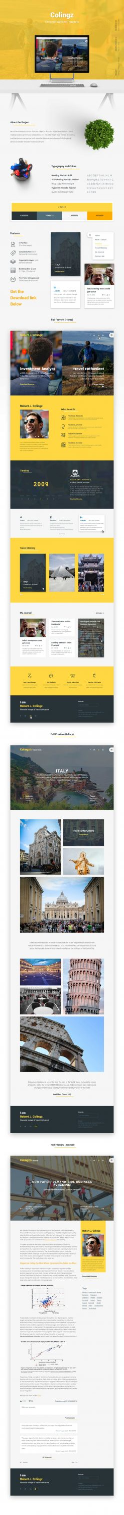 Colingz – Personal Website Template